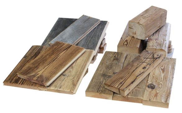 Example surface reclaimed wood