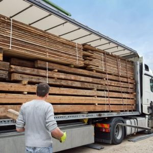Loading A Truck With Reclaimed Wood Shipping International
