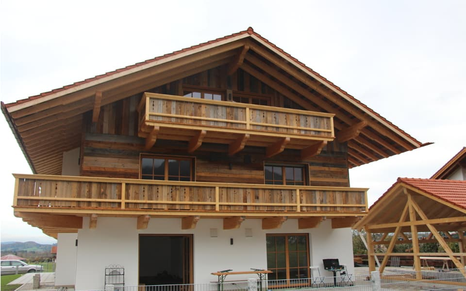 House with reclaimed wood