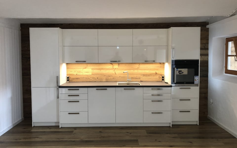 Kitchen with sunburnt boards