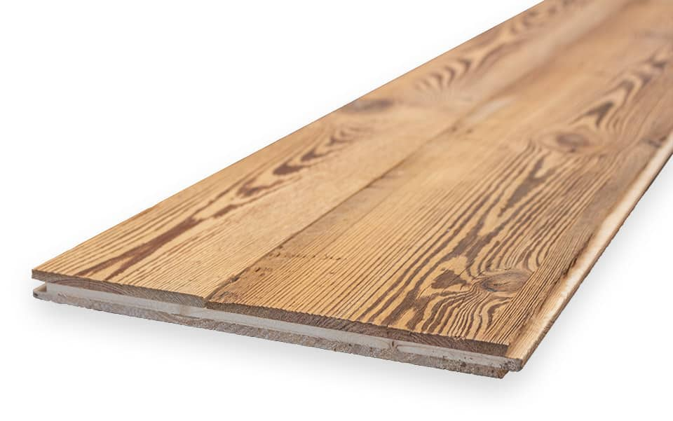 Multilayer plate reclaimed wood
